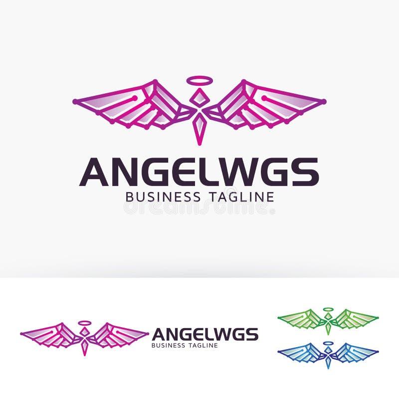 Projeto do logotipo de Angel Wings ilustração do vetor