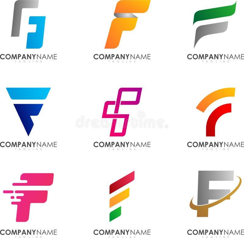Projeto do logotipo de F ilustração royalty free