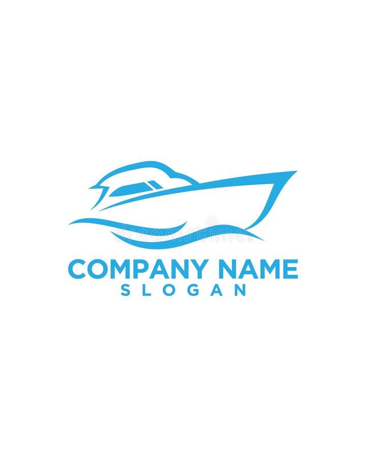 Projeto 4 do logotipo do aluguel do barco ilustração do vetor