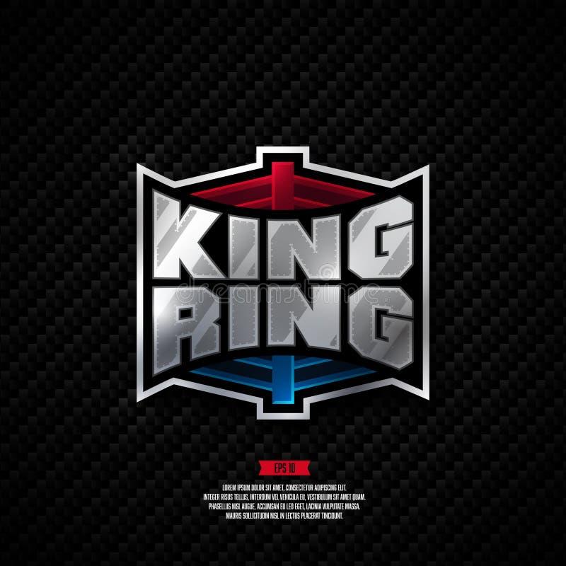 Projeto do logotipo do anel do rei imagens de stock royalty free