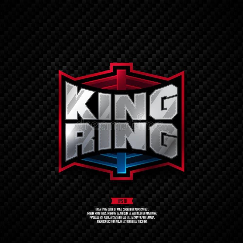 Projeto do logotipo do anel do rei imagem de stock royalty free