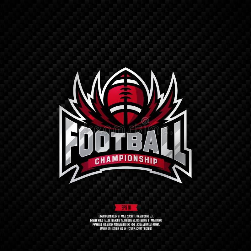 Projeto do logotipo do campeonato do futebol imagens de stock
