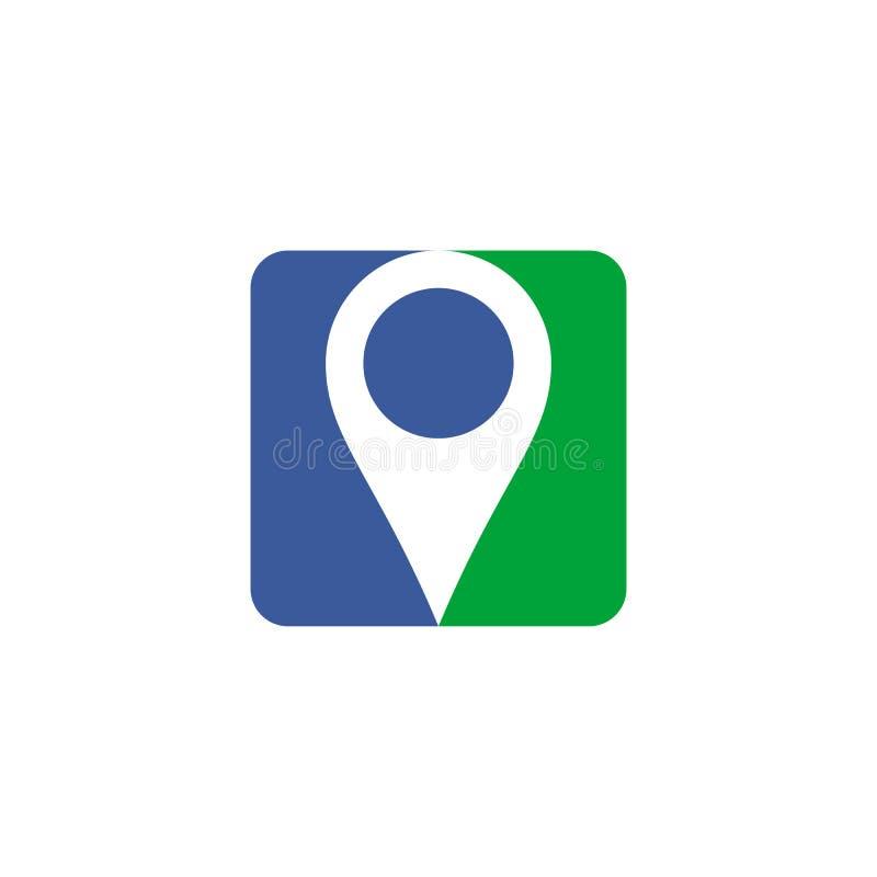 Projeto do logotipo do localizador do Pin imagem de stock