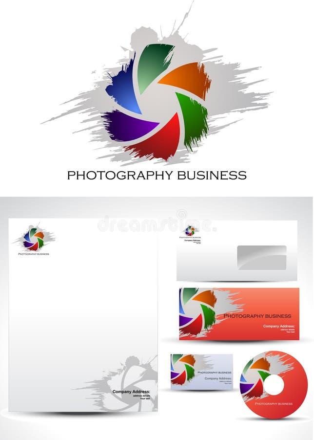 Projeto do logotipo do molde da fotografia ilustração royalty free