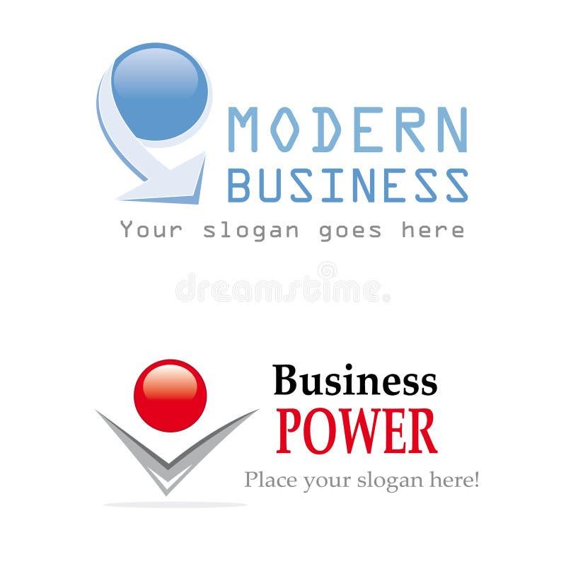 Projeto do logotipo do negócio ilustração royalty free
