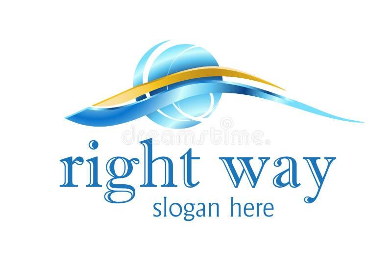Projeto do logotipo do negócio ilustração stock