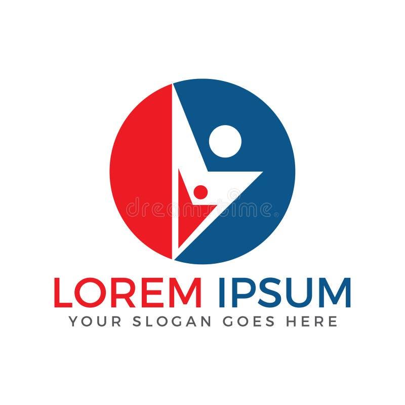 Projeto do logotipo do negócio dos povos ilustração stock