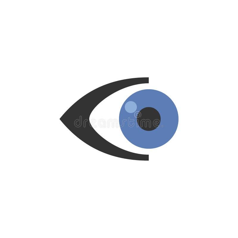 Projeto do logotipo do olho fotografia de stock