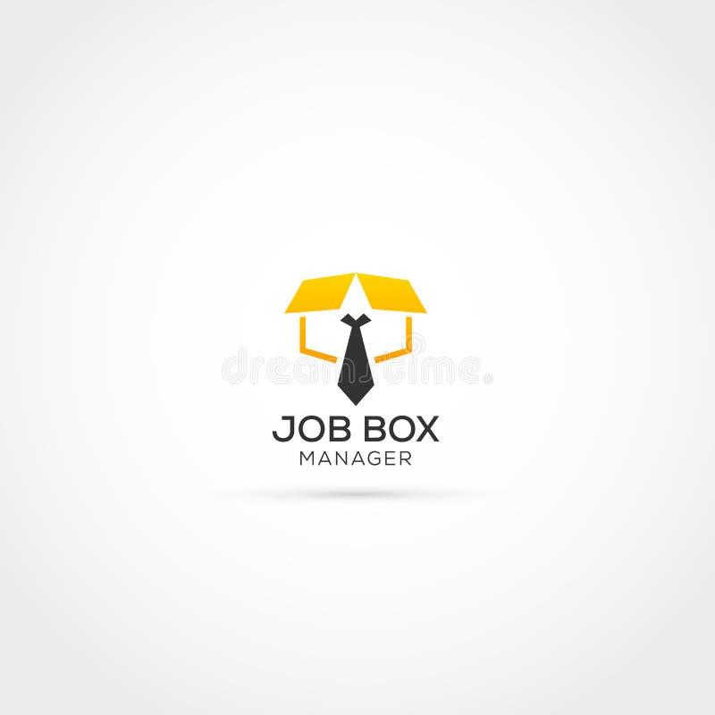 Projeto do logotipo do recruta ilustração do vetor