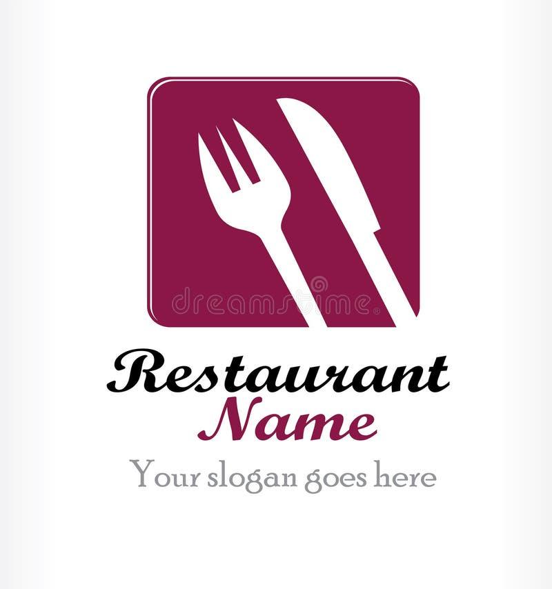 Projeto do logotipo do restaurante ilustração do vetor