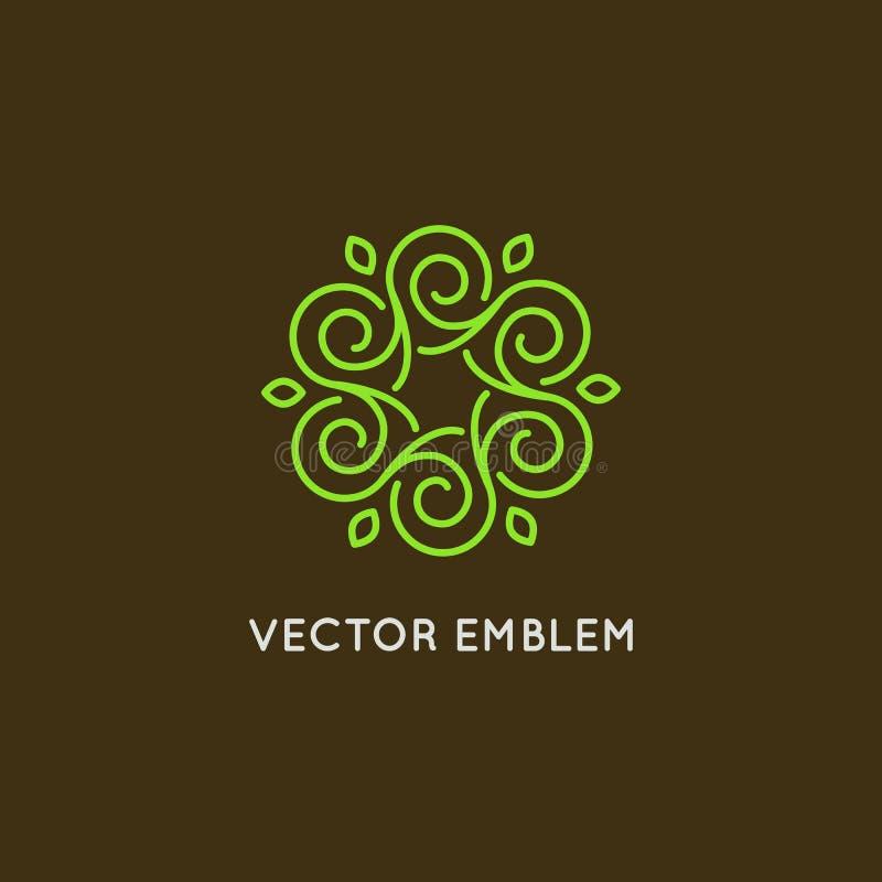 Projeto do logotipo do vetor - cosméticos e conceito da beleza ilustração royalty free