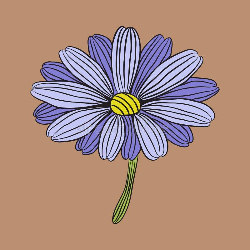Projeto do logotipo do vetor da ilustração da flor da margarida ilustração do vetor