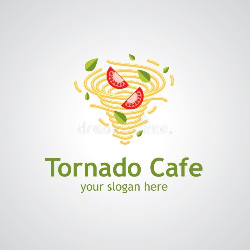 Projeto do logotipo do vetor do café do furacão ilustração royalty free