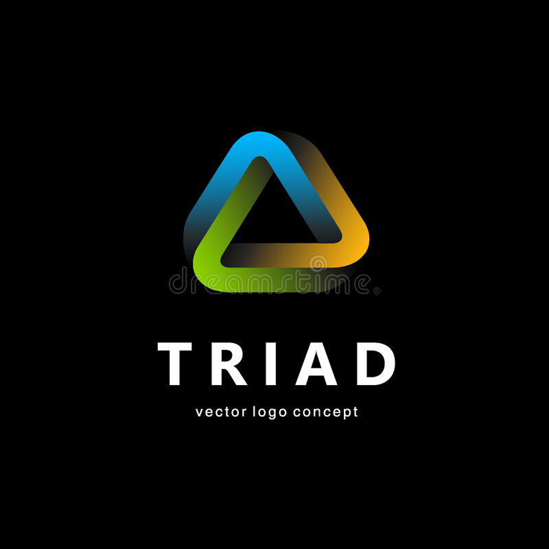 Projeto do logotipo do vetor Sinal do triângulo ilustração do vetor