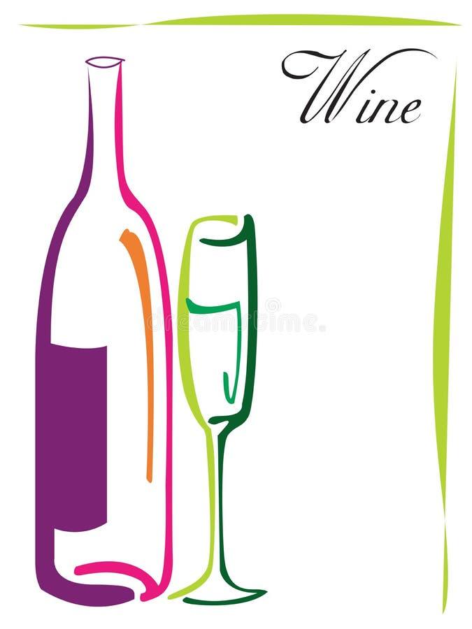 Projeto do logotipo do vinho ilustração do vetor