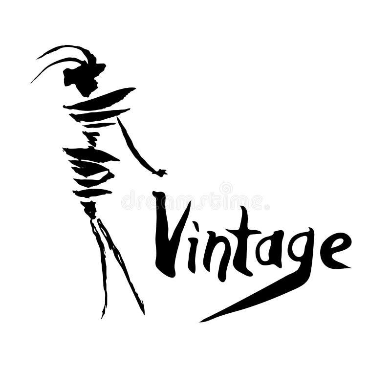 Projeto do logotipo do vintage ilustração do vetor