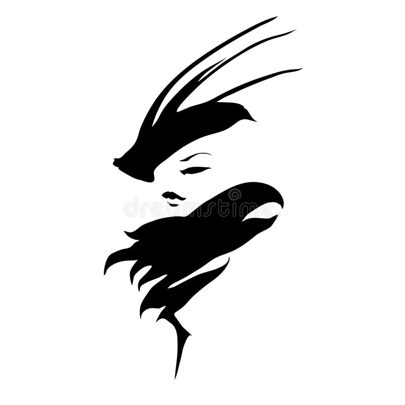 Projeto do logotipo do vintage ilustração royalty free