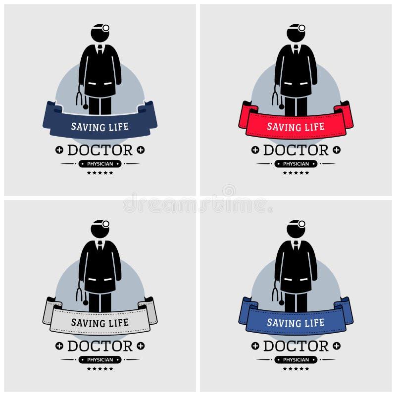 Projeto do logotipo do doutor ilustração stock