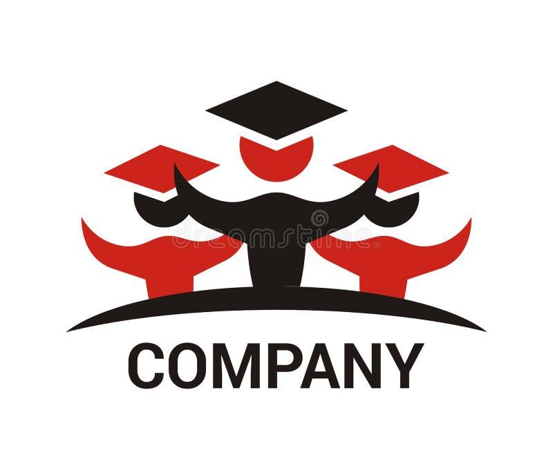 Projeto 2 do logotipo do estudante ilustração royalty free