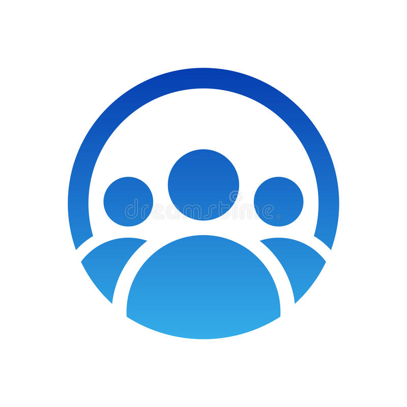 Projeto do logotipo do grupo dos povos Ilustração do ícone do vetor Símbolo do trabalho da equipe isolado ilustração royalty free