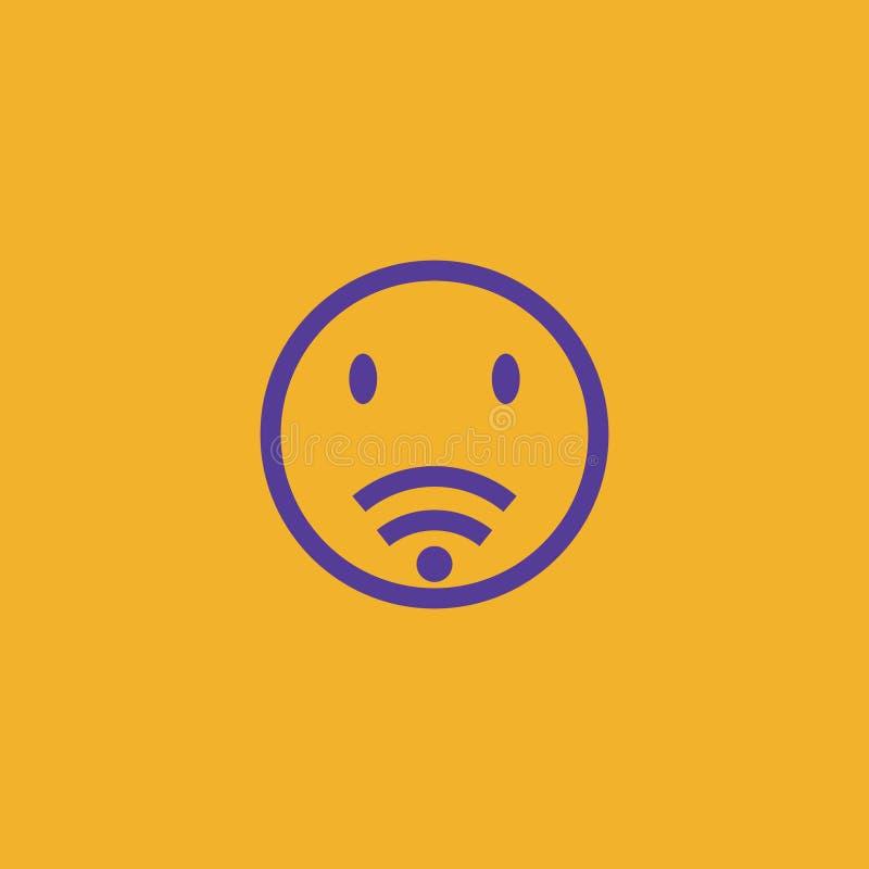Projeto do logotipo do Internet foto de stock