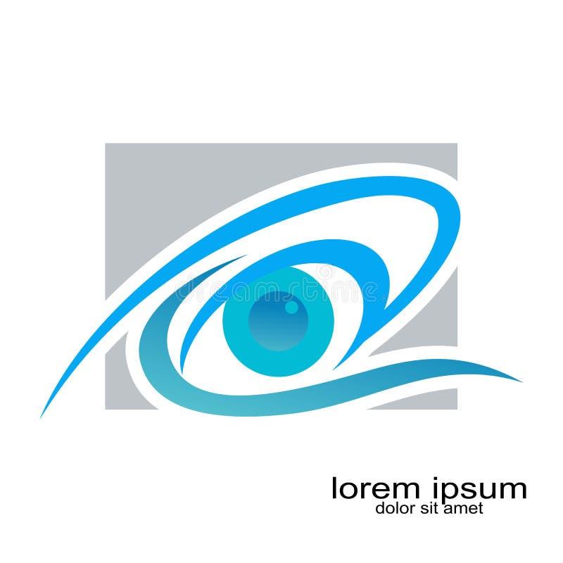 Projeto do logotipo do olho médico ilustração do vetor
