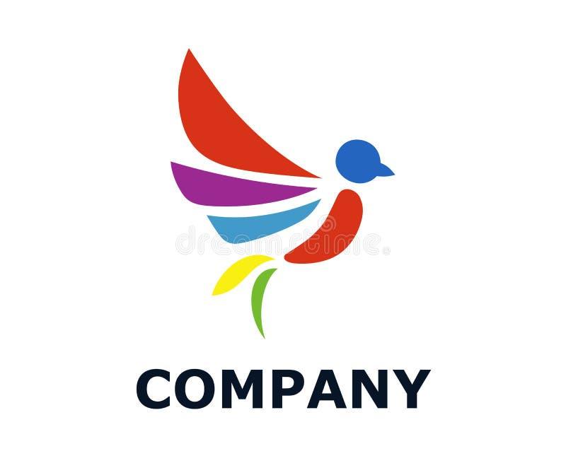 Projeto 3 do logotipo do pássaro ilustração stock