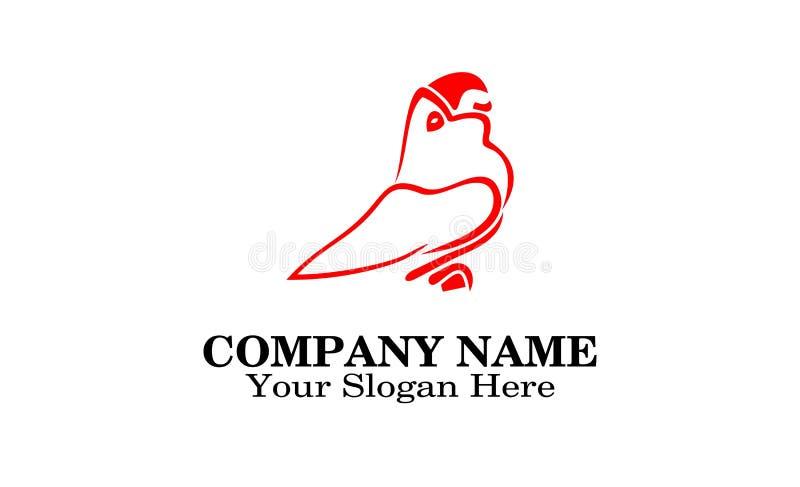 Projeto do logotipo do pássaro ilustração royalty free