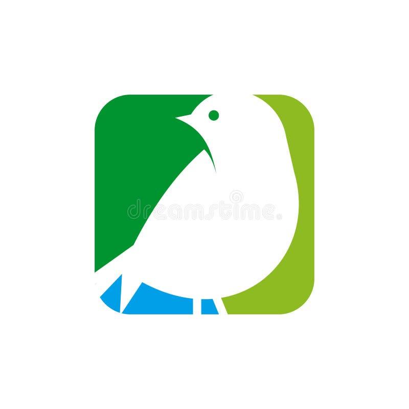 Projeto do logotipo do pássaro ilustração do vetor