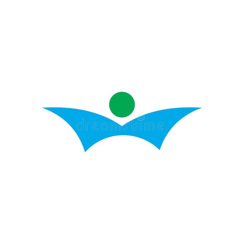 Projeto do logotipo para o tema de voo ilustração stock