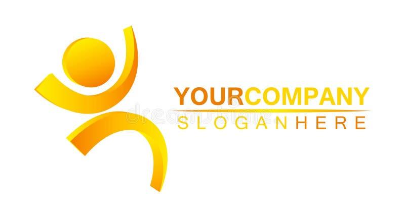Projeto do logotipo para sua companhia ilustração stock