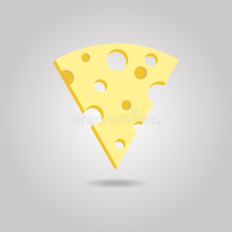 Projeto do logotipo do queijo S?mbolo vetor do lugar do queijo Painel solar e sinal para a energia alternativa ilustração do vetor