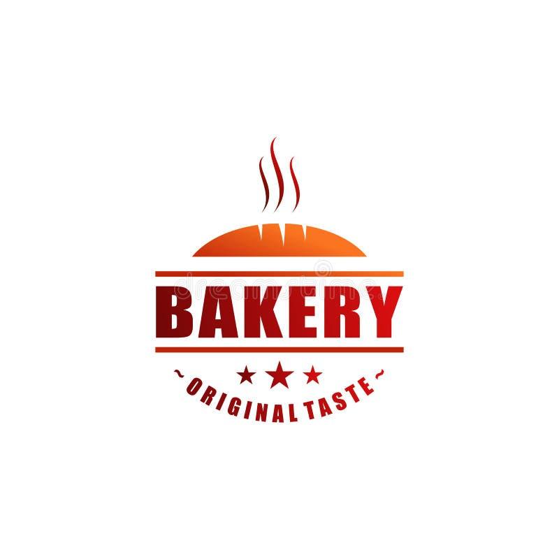 Projeto do logotipo do restaurante ilustração stock