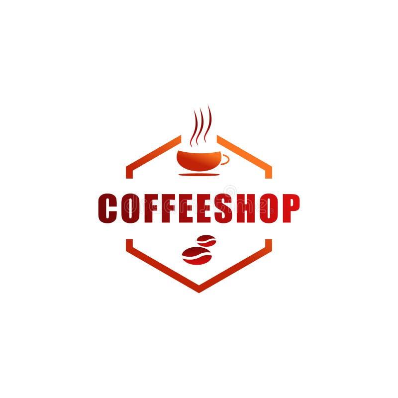 Projeto do logotipo do restaurante ilustração royalty free