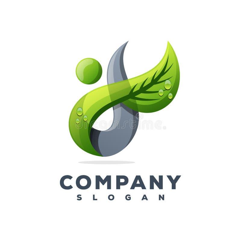 Projeto do logotipo do suco de modo operacional ilustração stock