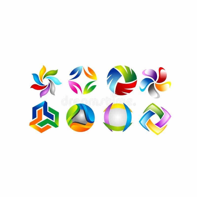 Projeto do logotipo do trabalho da equipe, sumário dos povos, negócio moderno, conexão ilustração do vetor