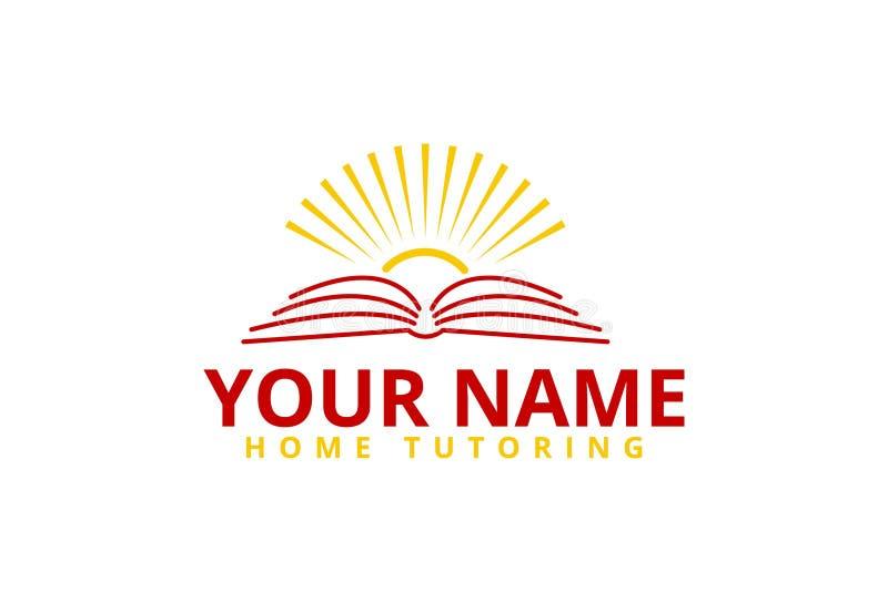Projeto do logotipo do tutoria da casa ilustração royalty free