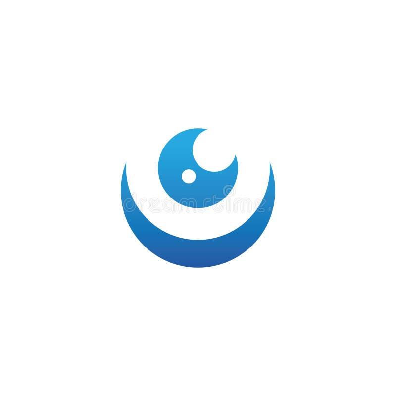 Projeto do logotipo do vetor do cuidado do olho ilustração royalty free