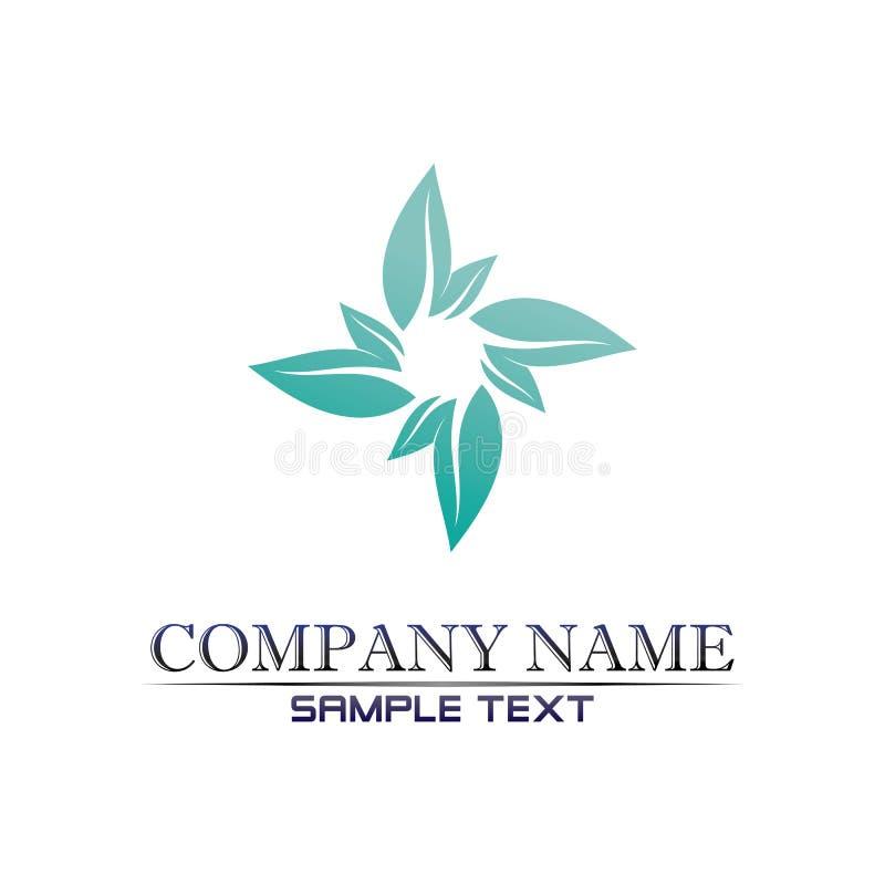 Projeto do logotipo do vetor da folha da ?rvore, conceito eco-amig?vel ilustração royalty free