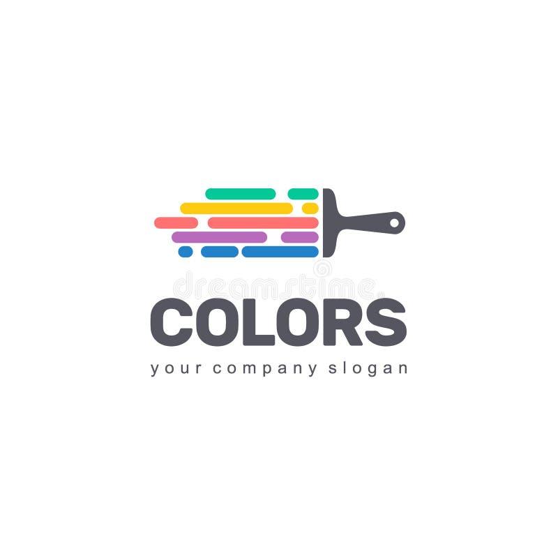 Projeto do logotipo do vetor do negócio Sinal colorido creativo Ícone abstrato ilustração stock