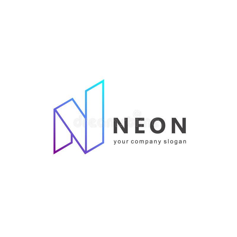 Projeto do logotipo do vetor para o negócio Letra N ilustração do vetor