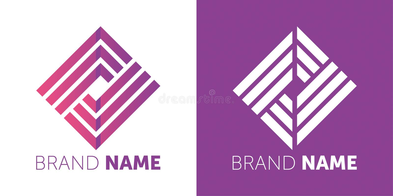 Projeto do logotipo do vetor seu projeto da marca logotype de projeto criativo ilustração royalty free