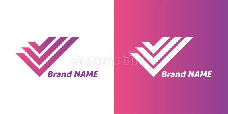 Projeto do logotipo do vetor seu projeto da marca logotype de projeto criativo ilustração do vetor