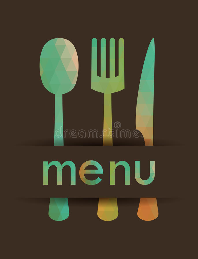 Projeto do menu ilustração do vetor