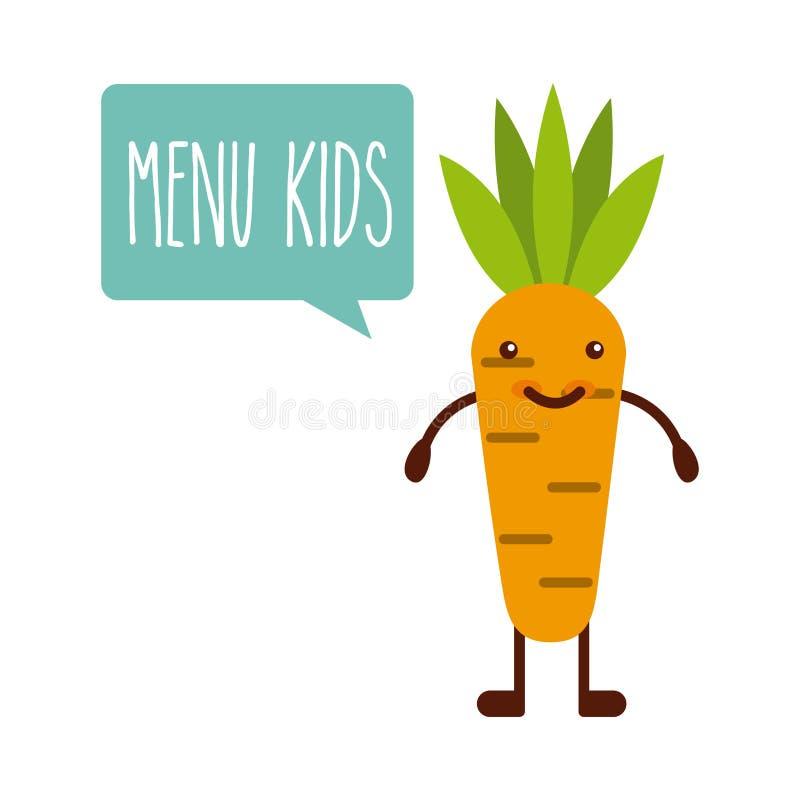 Projeto do menu das crianças ilustração stock