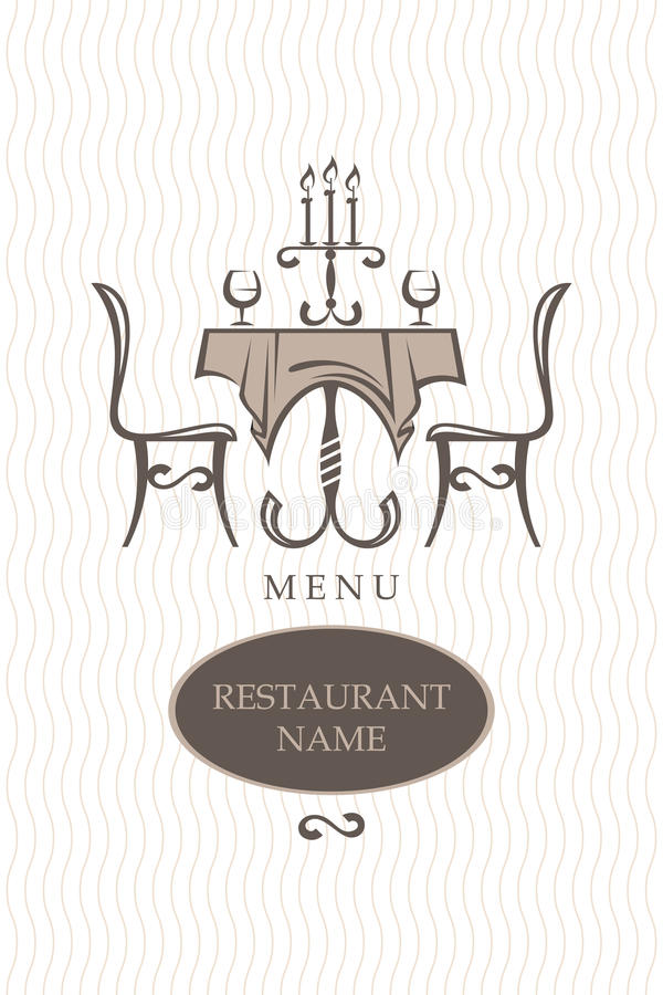 Projeto do menu do restaurante ilustração royalty free