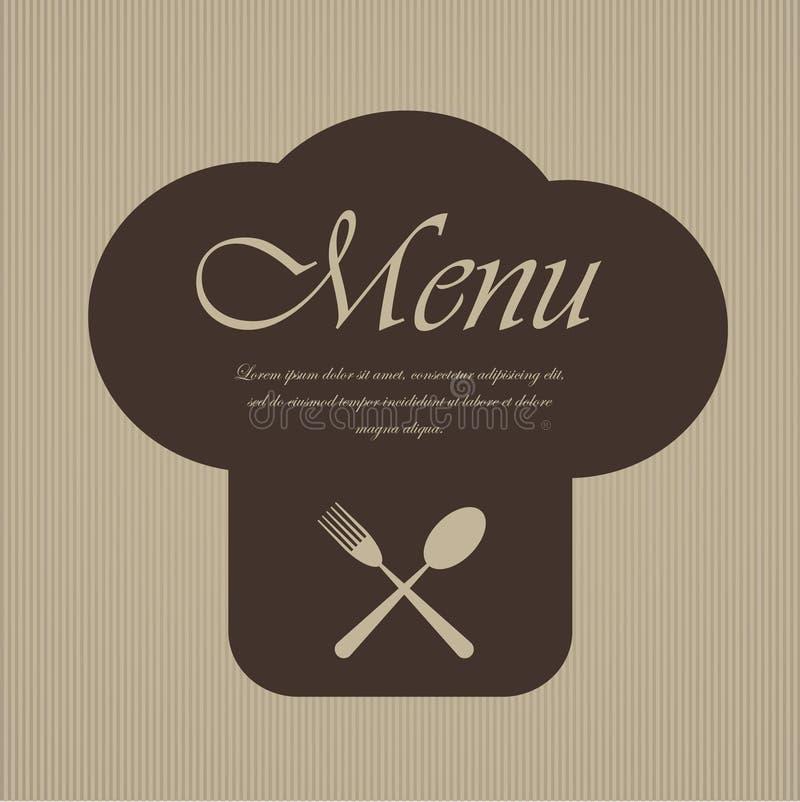 Projeto do menu do restaurante ilustração do vetor