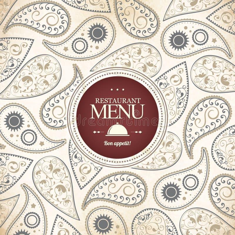 Projeto do menu do restaurante ilustração stock
