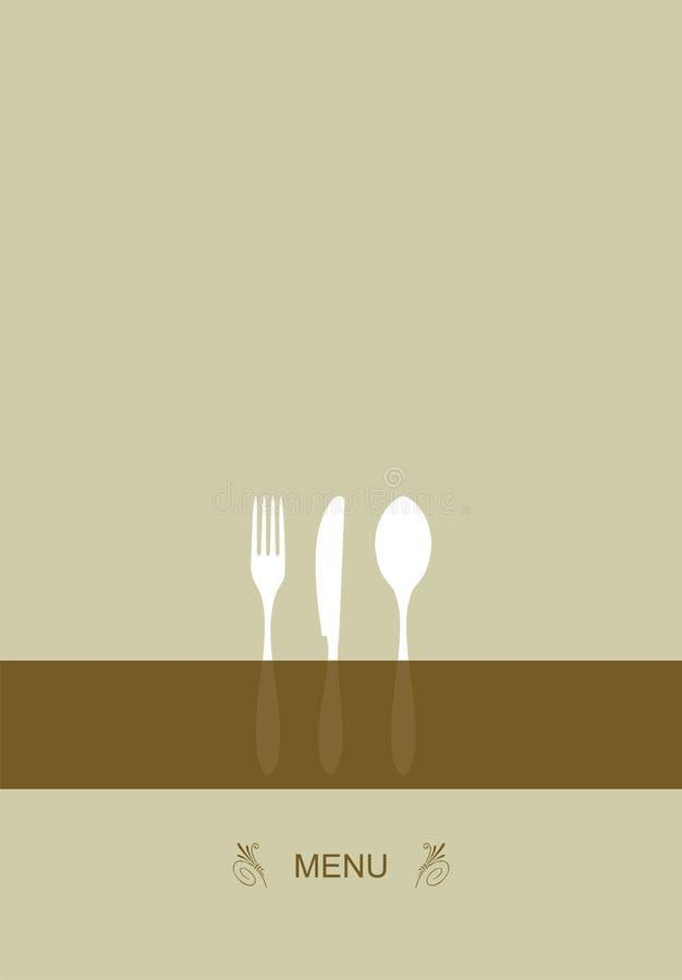 Projeto do menu para o restaurante ilustração do vetor
