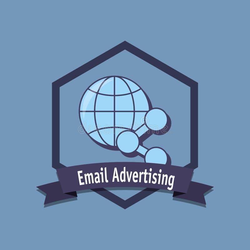 Projeto do mercado do email ilustração royalty free